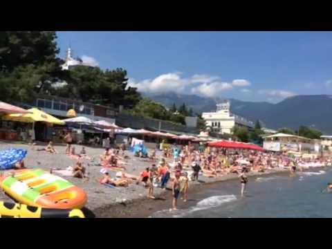 Crimea.Yalta.берег.пляж.море.YouTube.com/milagurzuf