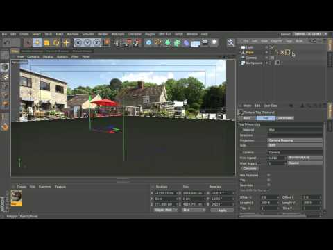 Add a 3D object to a photo backplate in Cinema 4D