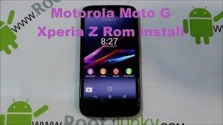 Motorola Moto G Xperia Z Rom Install & Review