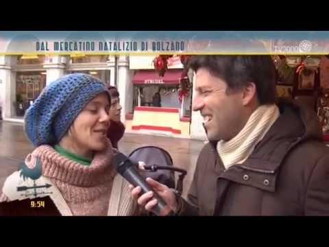 Gli addobbi dal mercatino natalizio di Bolzano