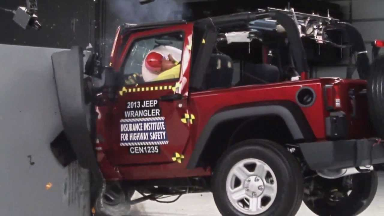 Iihs 2013 Jeep Wrangler 2door Small Overlap Crash Test