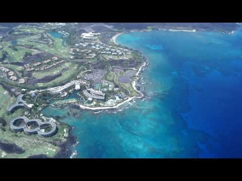"Big Island Air Tour Hawaii: Hilton Waikoloa and ""A Bay"" from Cessna Caravan CE208"