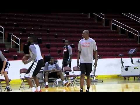 James Harden works out with Hakeem Olajuwon