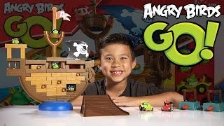 Angry Birds GO! PIRATE PIG ATTACK Game Jenga Unboxing