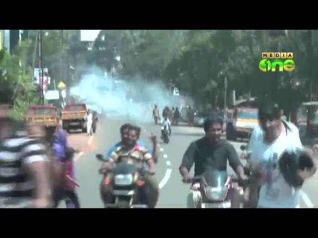 Protests turn violent in Thamarassery
