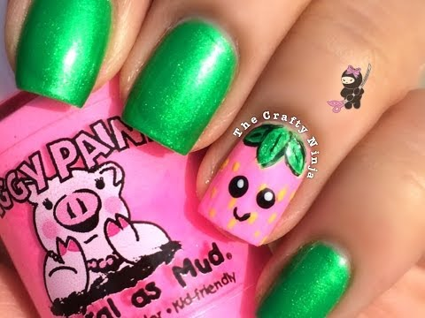 Kawaii Strawberry Nails