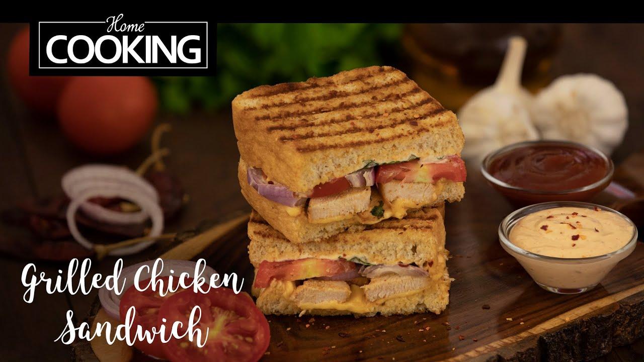 Grilled Chicken Sandwich   Sandwich Recipes   Bread Recipes