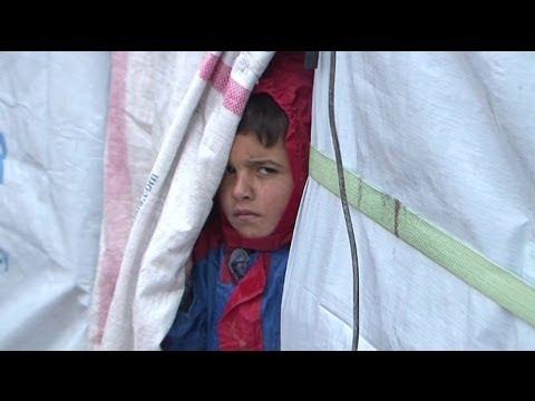 WINTER STRUGGLE FOR SYRIA'S REFUGEES - BBC NEWS