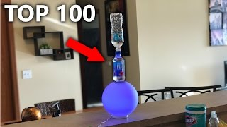 TOP 100 LUCKIEST WATER BOTTLE FLIPS EVER ( INSANE Trick Shot Compilation )