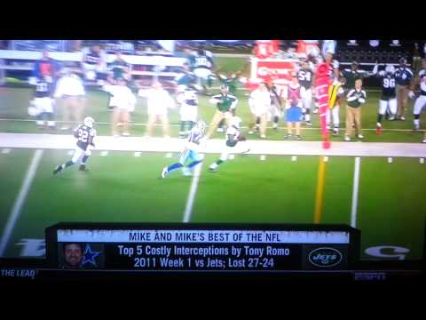 Tony Romo Top 5 Costly Interceptions