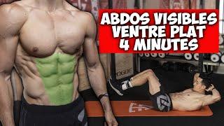 ABDOS VISIBLES VENTRE PLAT EN 4 MINUTES !!