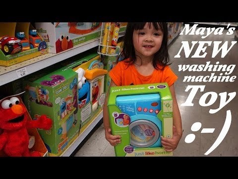 Laundry Toy Set for Girls: Unboxing a Washing Machine Toy Set