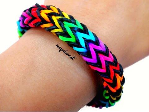 Pulsera de gomitas Zigzag multicolor / Multicolor zigzag bracelet