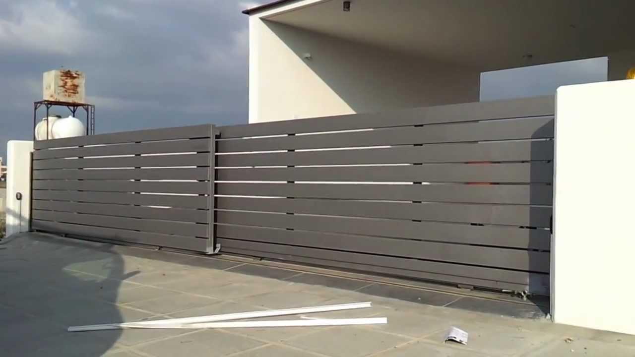 Telescopic Sliding Gate Motor Youtube