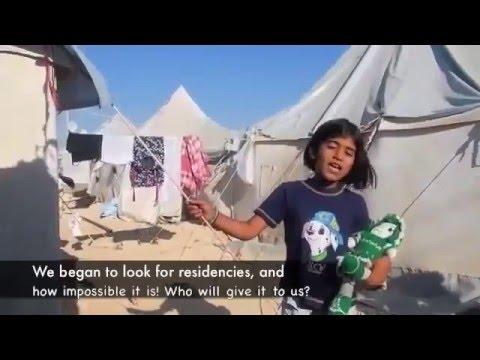 طفلة سورية من مخيمات اللجوء   أتحداك ما تبكي  إيش أحكيلك يا وطن )   YouTube