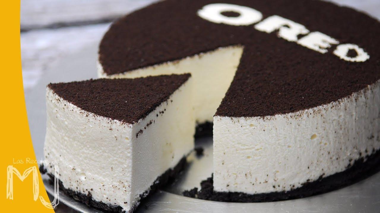 Cheesecake De Oreo Sin Hornear Las Recetas De Mj Youtube