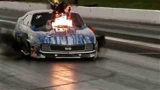 Video kompilasi mobil meledak di drag race
