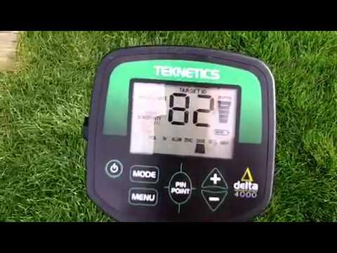 Teknetics Delta 4000 metal detector test garden 1 of 2