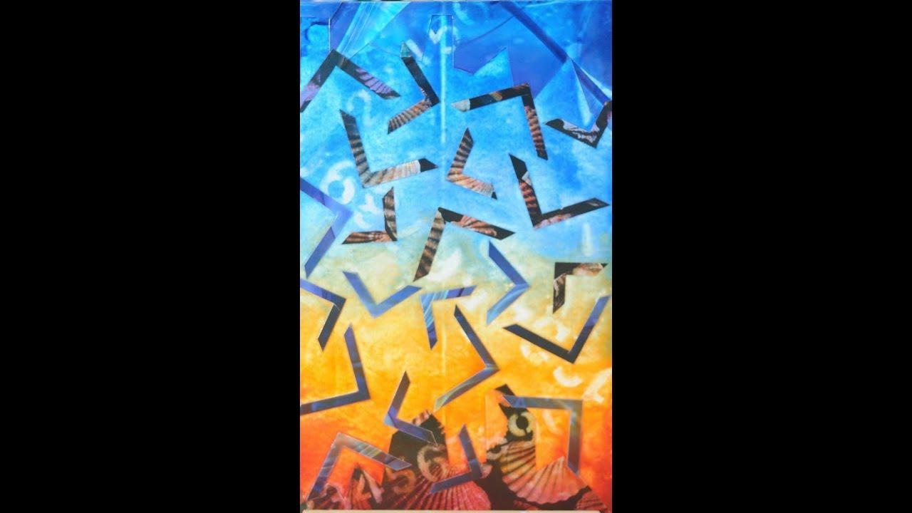 Como pintar un cuadro abstracto collage conny mellien for Como pintar un cuadro abstracto