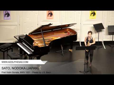 Dinant 2014 – SATO Nodoka (First Violin Sonata, BWV 1001 – Presto by J.S. Bach)