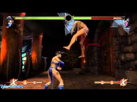 MK9 - Kitana 70% Damage Combo (Without X-RAY) - Mortal Kombat 9 (2011)