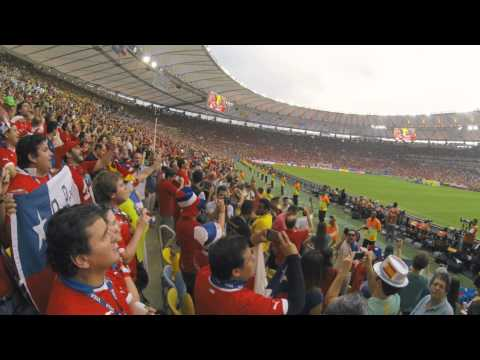 Himno de Chile / Chile - España / 18 de junio 2014 / Mundial Brasil 2014