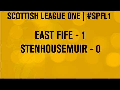 #SPFL League One | East Fife 1-0 Stenhousemuir | 07/12/13