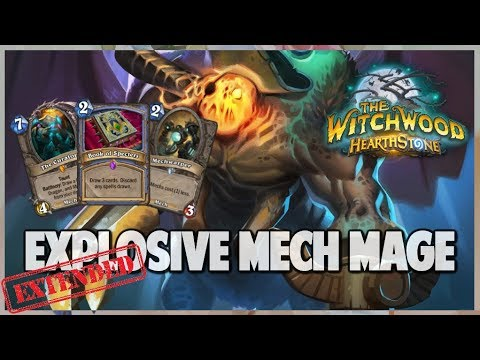 Explosive Mech Mage | Extended Gameplay | Hearthstone | The Witchwood