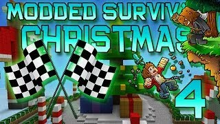 Minecraft: Modded Christmas Survival Let's Play w/Mitch! Ep. 4 - RACE!
