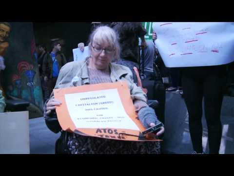 Disabled people protest against Atos role in Paralympics