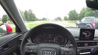 2016 Audi A4 (B9) 1.4 TFSI S-tronic POV Test Drive. MegaRetr