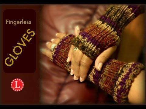 LOOM KNITTING Fingerless Gloves Mittens Project Pattern