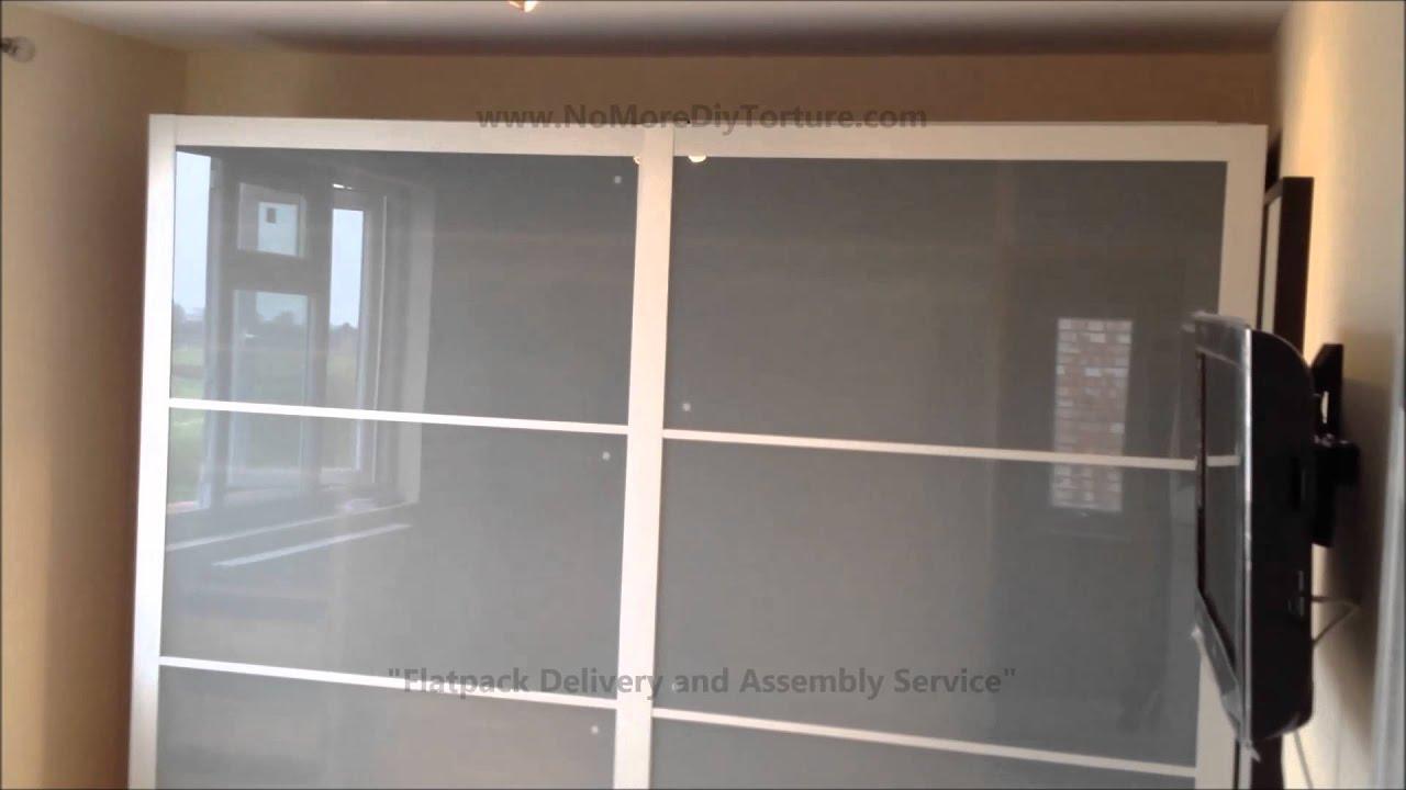 Ikea Pax Lyngdal Sliding Door Wardrobes Youtube