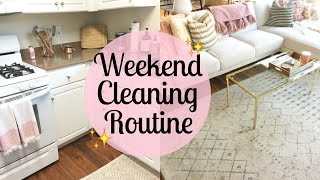 SUNDAY MORNING CLEANING ROUTINE 2017 | Clean with me | Cleaning motivation | Tara Henderson