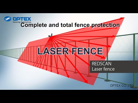 Optex REDSCAN laser fence