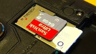 Samsung Galaxy Note 3 Insert / Install Micro SD / Sim Card
