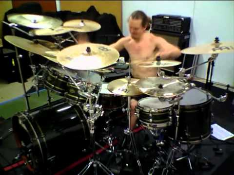 Peter Wildoer rehearsing for Dream Theater audition.
