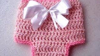 How To Crochet A DIAPER COVER Newborn To 3 Months, Crochet