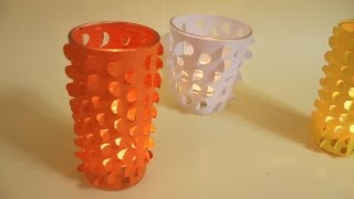 Manualidades - Porta velas decorativo
