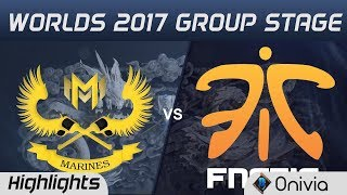 GAM vs FNC Highlights World Championship 2017 Group Stage Gigabyte Marines vs Fnatic by Onivia