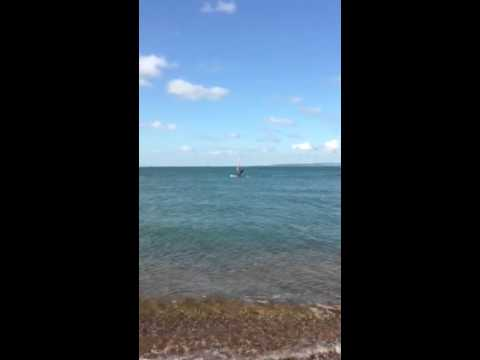 Wind surfing hayling island
