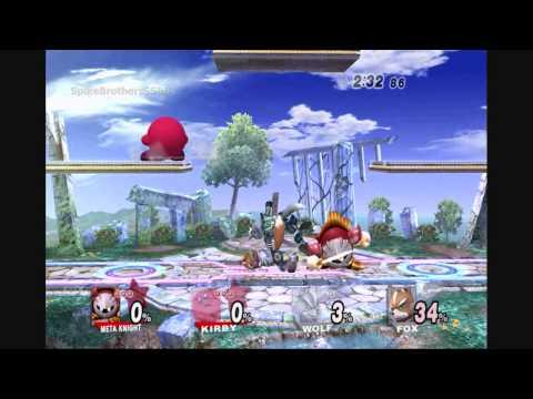 SSBB [TAS] - MetaKnight and Kirby Perfect Team Match
