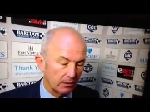 Crystal palace v Liverpool. Tony pulis post match