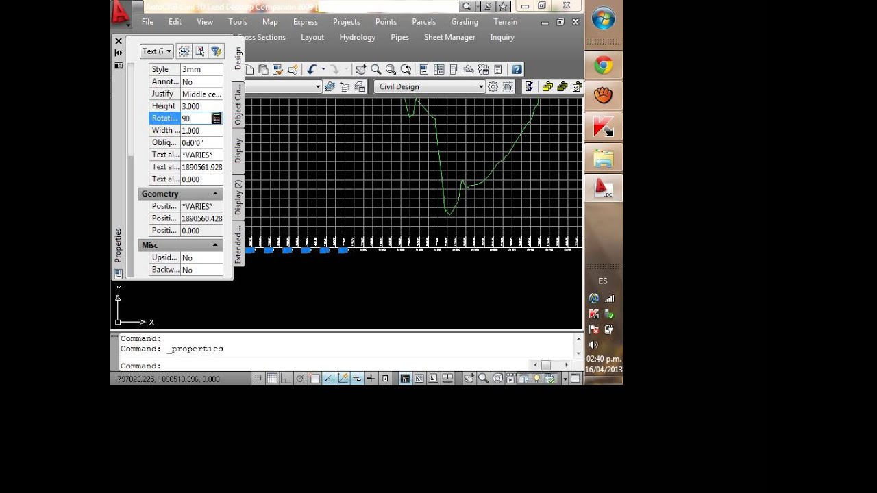 Tutorial de AutoCAD Land Desktop Companion 2009 - Parte 3