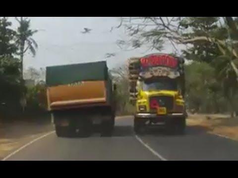 Following a TATA LPK 2518 multi axle tipper truck