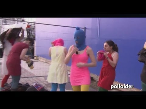 Pussy Riot Performance FAIL Sochi Winter Olympics - Pussy Riot whipped by Cossacks