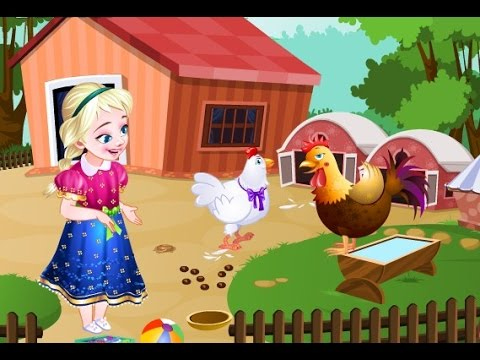 Elsa nuôi gà mái đẻ trứng - Phim hoạt hình Nữ hoàng băng giá  (Frozen Elsa Poultry Care)