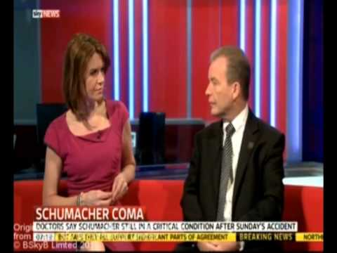 Sky News - Peter McCabe discusses Michael Schumacher and ski helmets