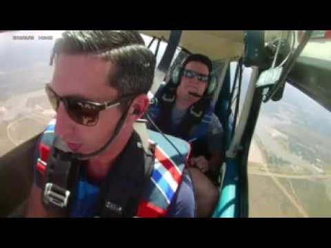 Aerobatic flying - Super Decathlon - funny G-face