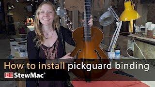 Watch the Trade Secrets Video, How Maegen Wells installs pickguard binding